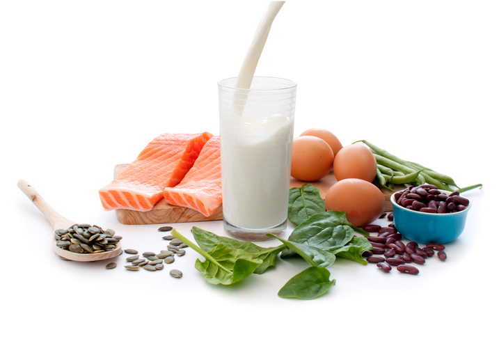 Image of shellfish, milk and eggs that make great food sources of natural vitamin D.